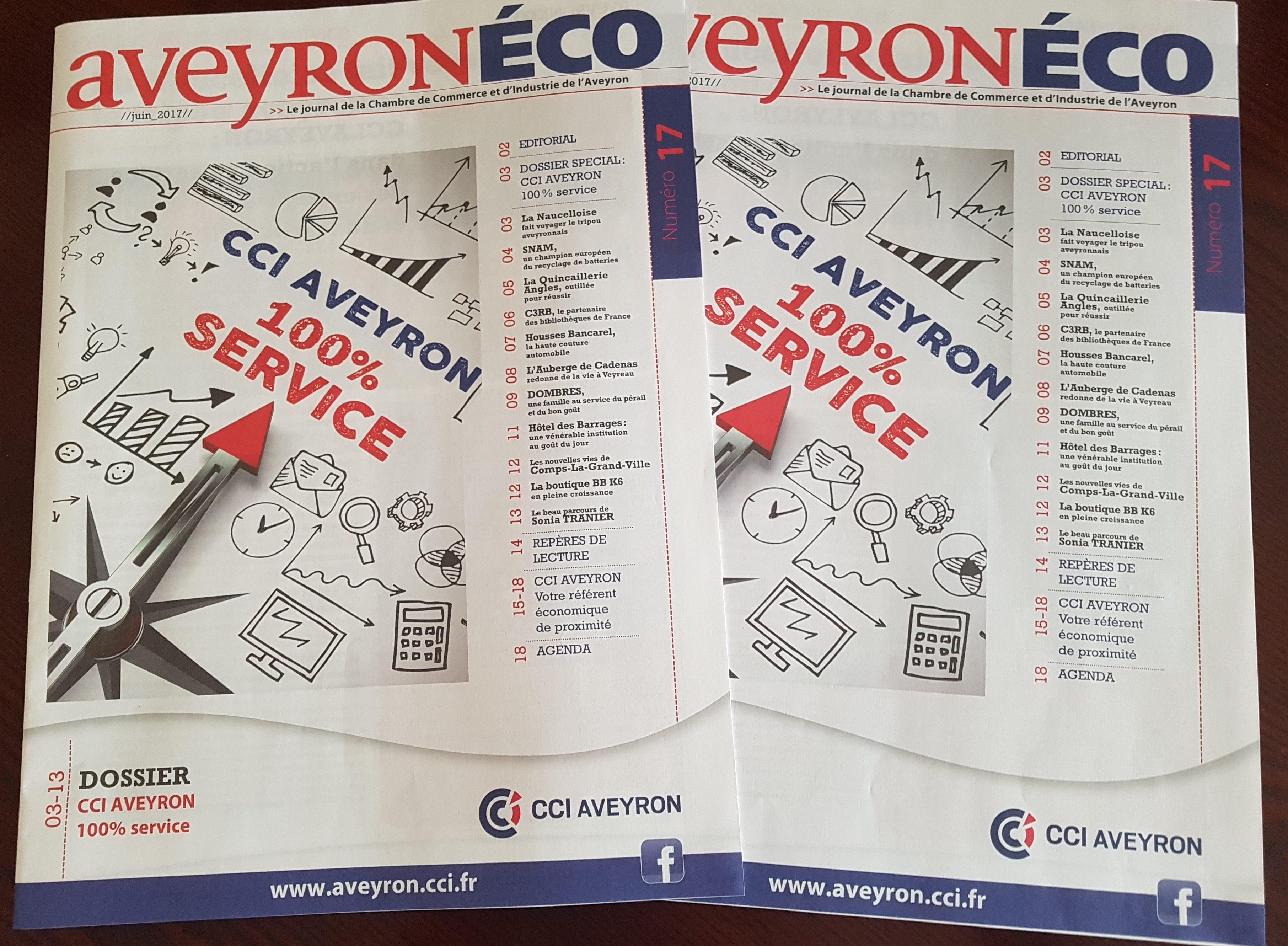 Aveyron eco n 17 est paru cci aveyron 100 service le blog cci aveyron - Le journal de l aveyron ...