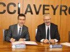 Signature convention Banque de France CCI AVEYRON