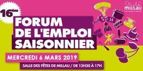Forum Emploi Saisonnier Millau 2019